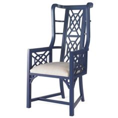Check out this item at One Kings Lane! Kings Grant Chair, Navy