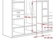 Размеры отделения для гладильной доски