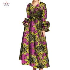 Long Sleeve Dresses for Women Party Wedding Casual Date Dashiki African V Neck Women Dresses African Dresses for Women African Fashion Ankara, African Print Fashion, Traditional African Clothing, Traditional Outfits, African Print Clothing, African Clothes, Maxi Skirts For Women, African Dresses For Women, African Women
