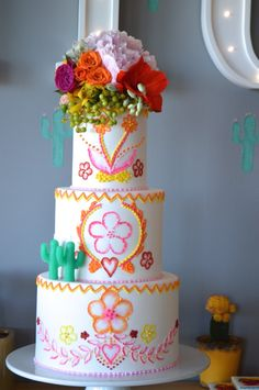 Cake from a Glamorous Birthday Fiesta via Kara's Party Ideas KarasPartyIdeas.com (13)