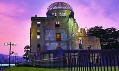 'From the remnants of destruction': the Genbaku Dome in Hiroshima  Hiroshima Peace Memorial Preserved from the ruins, 1945