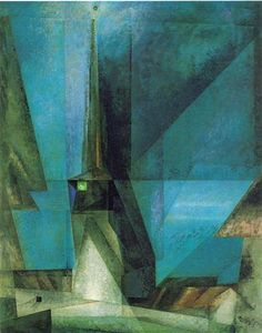Lyonel Feininger(DEU-USA) ライオネル・ファイニンガー(独-米) Born and raised in New York, Lyonel Feininger moved at the age of sixteen to Germany, where he became one of the leading practitioners of German Expressionism and the Bauhaus. Wassily Kandinsky, Abstract Expressionism, Abstract Art, Abstract Landscape, George Grosz, Francis Picabia, European Paintings, Harlem Renaissance, Mystique