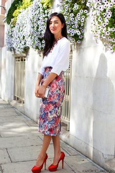 Moda de Rua: Saia Midi - Streetstyle: Midi Skirts
