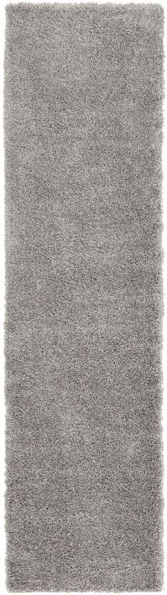Gray 80cm x 305cm Luxe Solid Shag Runner Rug | Area Rugs | iRugs NZ