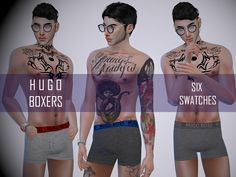 A new pair of boxers for you male sims. 6 Swatches, EA edited mesh Found in TSR Category 'Sims 4 Male Sleepwear'