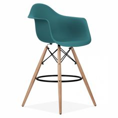 Teal Eames Style DAW Stool | Kitchen & Bar Stools | Cult Furniture UK