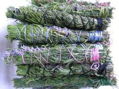 Make your own smudge stick - also includes list of herbs that can be used and their meaning
