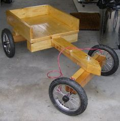 Hand made wooden go karts