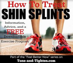 How to treat Shin Splints- info and free exercise program from a physical therapist