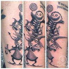Nightmare Before Christmas Lock Shock And Barrel Tattoo Siah7lrkh