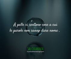 A Pelle si sentono cose a cui le parole non sanno dare nome.  Sal Chiarenza - Consulente Facebook Marketing Expert & Ossessionato di Crescita Personale. @ http://salchiarenza.com/