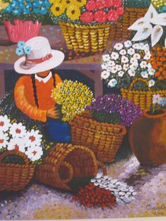 pinturas de cholitas peruanas - Buscar con Google Mexican Pictures, Mexican Paintings, Peruvian Art, Art Africain, Drawing Projects, Southwest Art, Painting People, Mexican Folk Art, Naive Art