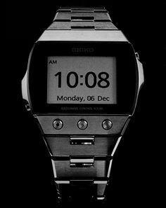 +digital watch (@ Seiko) // Seiko modernized the digital watch with an E Ink screen—yep, just like what's in the Amazon Kindle.