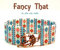 fancy that clasp shot. Bead Loom Bracelets, Beaded Bracelet Patterns, Peyote Beading, Woven Bracelets, Beaded Jewelry, Seed Bead Patterns, Peyote Patterns, Beading Patterns, Tutorials