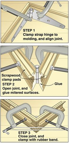 Excellent tip on gluing up frames, or boxes. Use strap hinges to hold the pieces together. is creative inspiration for us. Get more photo about diy home decor related with by looking at photos gallery at the bottom of this page. We are want to say thanks if you like …