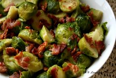"Ketogenic Diet Recipes - Bacon ""brown sugar"" brussel sprouts #ketogenicdiet #lowcarbs #lchf"