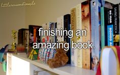 for me, is like the worst feeling sometimes lol, there are some books i wish went on forever!