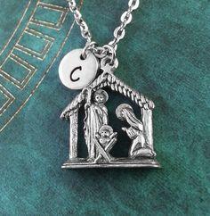 Nativity Necklace Personalized Necklace Nativity by MetalSpeak