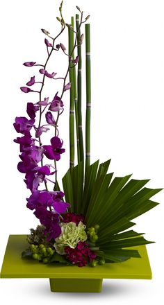 Zen Artistry tropical floral arrangement