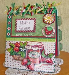 Recipes Notebook. Perfect to make with the bind it all.