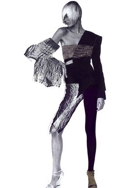 Fashion collages by Ioana Avram, via Behance