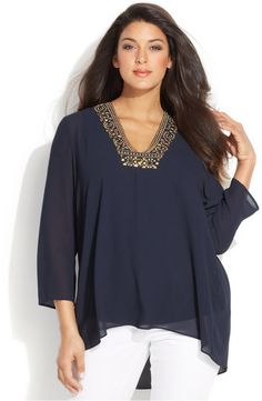 Plus Size Chiffon Top #plussize #wishlist
