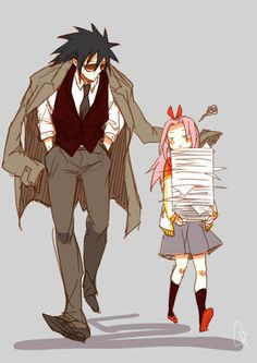 Principal Madara and student Sakura