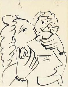 Pablo Picasso (1881-1973), Mere Et Enfant 1951 (27 x 21 cm) on ArtStack #pablo-picasso-1881-1973-2 #art