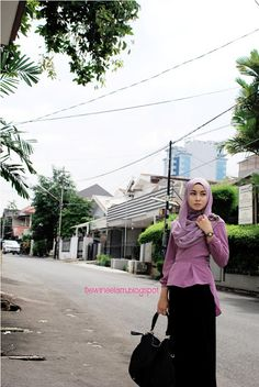 purple #hijab#muslimah fashion