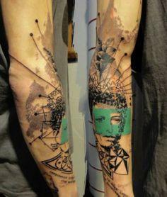 Τατουάζ μανίκι free art portrait