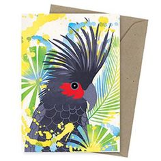 Inspired by nature, Earth Greetings cards are eco friendly and Australian made. Palm Cockatoo is an earth friendly card, designed and printed in Australia using veggie-based inks! Australian Gifts, Cockatoo, Garden Gifts, Paper Goods, Gifts For Family, Rooster, Eco Friendly, Palm, Recycling