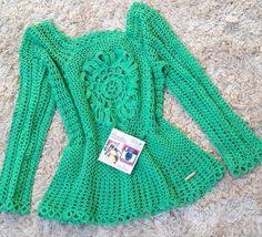Blusa Mandala Crochê Luxo - Marie Bella