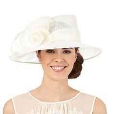 Hatbox Ivory flower swirl hat- | Debenhams
