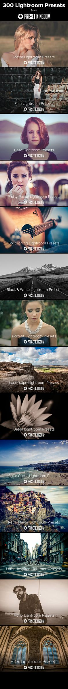 Bundle of 300 Lightroom presets from PresetKingdom.com #lightroom