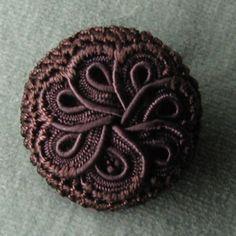 vintage passementerie button