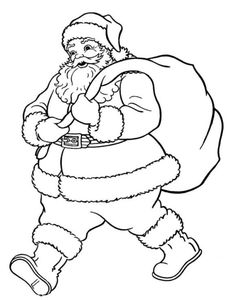 Santa Christmas Coloring Pages Printable Free