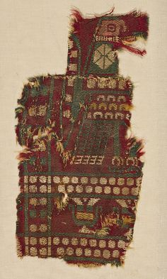Fragment of Wall Hanging with Eagle  Date:     9th–10th century