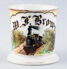 Locomotive Occupational Shaving Mug