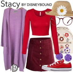 [[MORE]] Cardigan Skirt Shirt Sneakers Glasses | DisneyBound Disney Bound Outfits, Disney Inspired Outfits, Disney Style, The Hollywood Bowl, Character Inspired Outfits, Disney Artwork, Elsa Frozen, Disneybound, Disney Trips