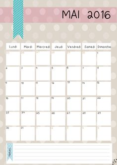 DIY Calendrier 2016 (gratuit, à imprimer) | Azilis