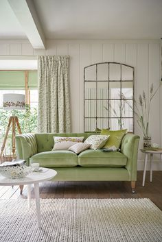 Timeless Country Collection Spring Summer 2016. I love green! Fresh and cool....and look at that lamp shade!!