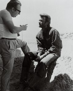vintagemovieclub Morning! Sergio Leone and Clint Eastwood on the set of The Good, The bad and the ugly, 1966.  #thegoodthebadandtheugly #clinteastwood #sergioleone #hollywood #classichollywood #vintagehollywood #oldhollywood #classicfilm #classiccinema #goldenagehollywood #goldenagefilm #vintagecinema #classiccinema