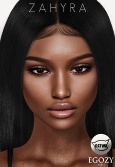 f52b9295cf37 Black Second Life 3 · Egozy.Zahyra (Brun)Catwa Colouring, Black Art,  Baddies, Digital Art