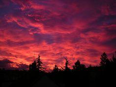coucher de soleil, nuages, paysages