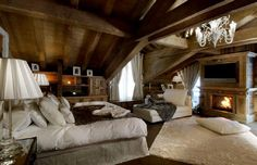 lovely bedroom in the attic.