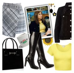 """""""🌻Rachel Green🌻"""" by chey-love ❤ liked on Polyvore featuring Chicwish, River Island, M2Malletier and Yves Saint Laurent"""