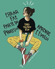 Nossa mais recente coleção de frases feministas sobre empoderamento e igualdade para mulheres inspiradoras faz citações para você se sentir fortalecido. Motivational Phrases, Lettering Tutorial, Power Girl, Self Love, About Me Blog, Love You, Positivity, Thoughts, Humor