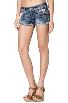 Noelle Rock Revival Denim Shorts Absolutely LOVE these shorts! Shop name brand denim @ Sister Babyz Boutique Miss Me Outfits, Summer Outfits, Summer Clothes, Rock Revival Shorts, My Boutique, My Outfit, Jean Shorts, My Style, Sequins