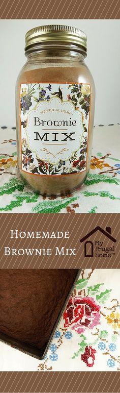 "Homemade Brownie Mix - Makes (1) 13×9"" pan or (2) 8×8"" or 9×9"" pans of brownies."