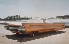 1955 Ford La Tosca show car concept stylish futuristic retro streamlined bubble fins tailfins pink
